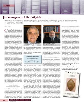 Article Juifs d'Algerie JPost