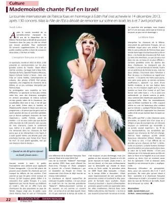 Article Patricia Kaas JPost